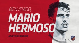 Mario Hermoso ya es del Atlético. Twitter/Atleti