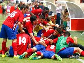 El Atlético Juvenil se impuso por 2-0 ante el conjunto holandés. EFE/Archivo