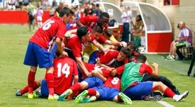 El Atlético de Madrid, defensor del título. ClubAtleticodeMadrid