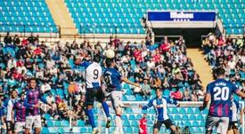 El filial del Levante también abordó el Rico Pérez. Twitter/Hércules