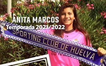 Ana Marcos nueva jugadora del Sporting. Twitter/sportinghuelva