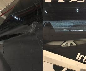 Nuevos actos vandálicos. Twitter/GermánAbril