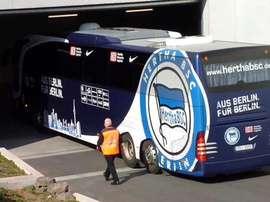 El autobús del Hertha de Berlín. Twitter