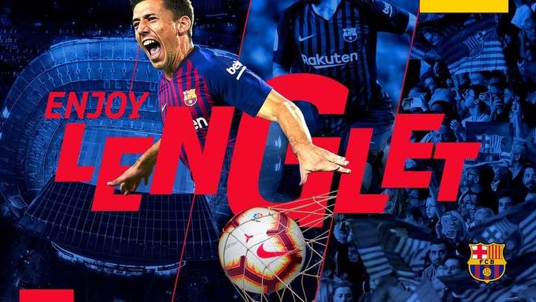 Lenglet officiellement au Barça. FCBarcelona