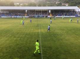 El filial azulgrana cayó en El Collao. FCBarcelona