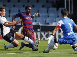 El Barcelona B fue incapaz de marcar un gol al colista del grupo, el Llosetense, y terminó siendo derrotado. Twitter