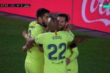 Nouveau but de Messi. Capture/Movistar
