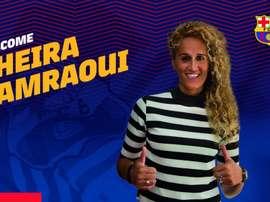 Hamraoui ya es jugadora azulgrana. Twitter/FCBfemeni