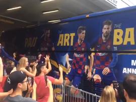 Barcelona chega a Miami sem Messi. Twitter/ellarguero