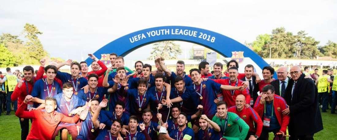 O Barça é o campeão da UEFA Youth League. EFE