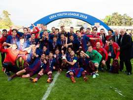 O Barça é o campeão da UEFA Youth League. EFE