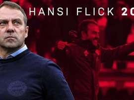 Flick renova com o Bayern até 2023. Twitter/FCBayern