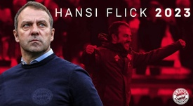 El Bayern confirmó la continuidad de Hansi Flick hasta 2023. Twitter/FCBayern