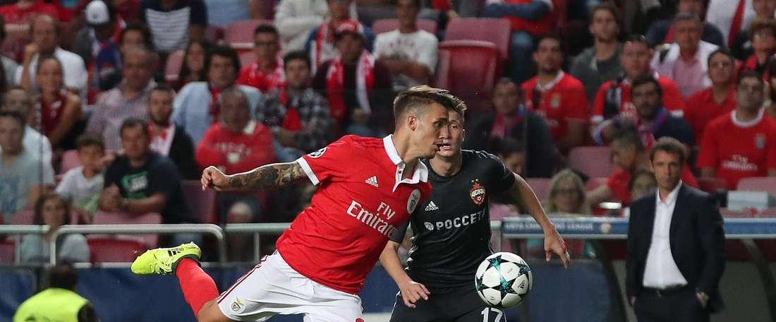 O Benfica foi infeliz na entrada na Champions esta temporada. SLBenfica
