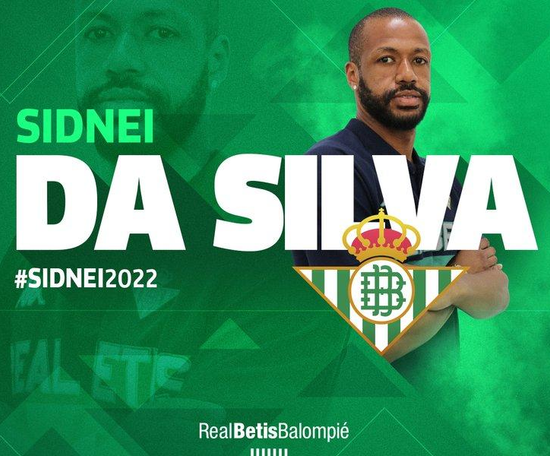 Sidnei has signed a four-year deal. RealBetis