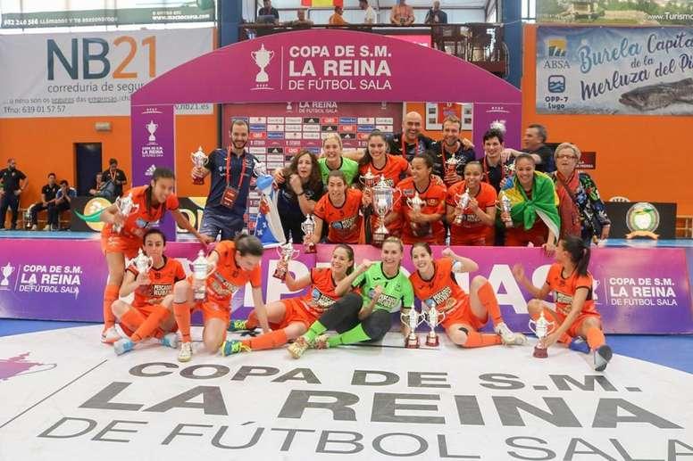 El Burela se lleva la Copa de la Reina. Twitter/burelafs