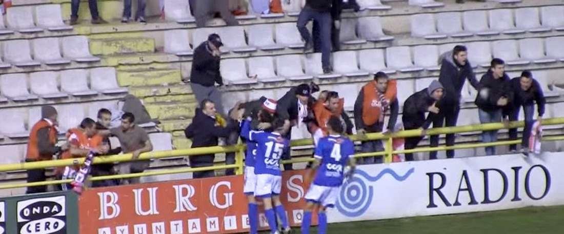 El Burgos CF no pudo hacerse con la victoria pese a disfrutar de más oportunidades que su rival. Twitter