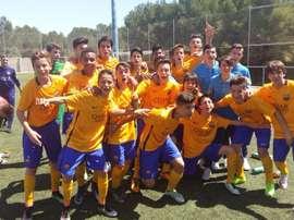 Ya son dos los equipos de las categorías inferiores del Barça en coronarse campeones. FCBarcelona