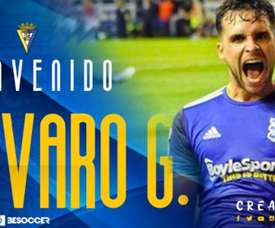 Álvaro Giménez, nuevo jugador del Cádiz. CádizCF