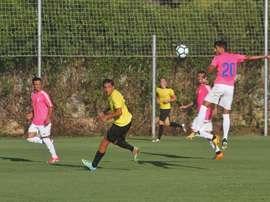El Cádiz sufrió para arrancar un empate a 3 al Mar Menor. Twitter/Cadiz_CF