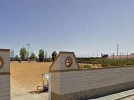 El campo de fútbol de San Silvestre de Guzmán, localidad donde ocurrieron los hechos. Twitter