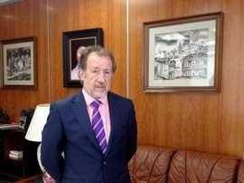 El candidato a la presidencia de la Federación Extremeña de Fútbol, Elisardo Plaza. Twitter