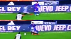 Messi deixou Gayá no gramado. Captura/beINSports