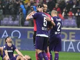 A Fiorentina ganhou no primeiro jogo depois da morte de Astori. Fiorentina