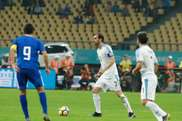 Godín tornou-se no mais internacional pela Seleção do Uruguai. Twitter/SelecciónUruguaya