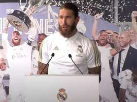 Ramos said that Real Madrid would win more trophies. Captura/RealMadridTV