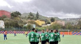 El Atlético Paso celebra que es el líder de su grupo. Twitter/AtléticoPaso