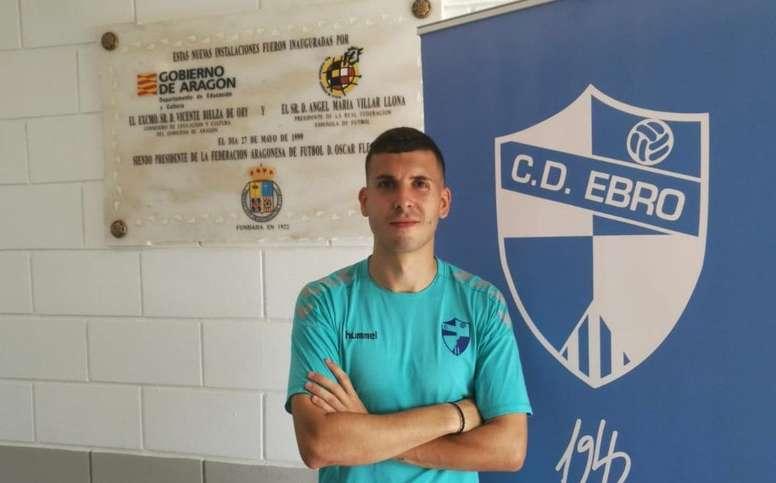 Adrián Carrasco, cedido al Ebro. CDEbro