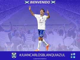 El centrocampista Juan Carlos Real, nuevo jugador del Tenerife. CDTenerife