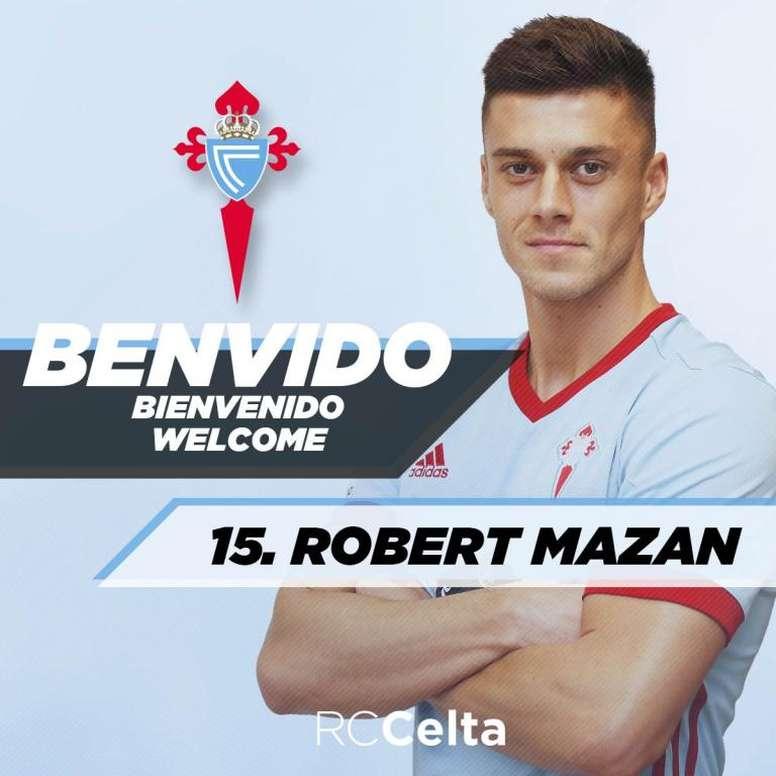 Nouveau défenseur pour le Celta. Twitter/RCCelta
