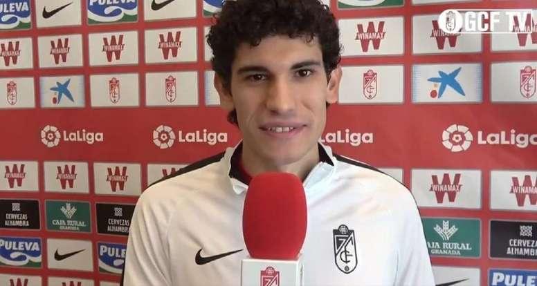 He has signed for Granada. Screenshot/Twitter/GranadaCF