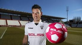 Gorosito lucirá los colores del cuadro manchego hasta 2019. Twitter/AlbaceteBalompié