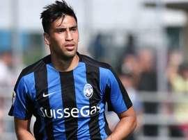El centrocampista paraguayo del Atalanta, Marcelo Estigarribia, en un partido con su equipo.Atalanta