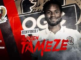 Adrien Tameze, nuevo jugador del Niza. OGCNice