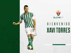 Xavi Torres ya ha firmado su contrato con el Elche. Twitter/ElcheClubdeFútbol
