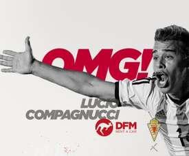 Compagnucci, nuevo jugador del Real Murcia. Twitter/RealMurciaCFSAD