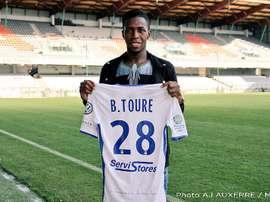 Birama Touré à son arrivée à Auxerre. Auxerre