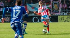Fernando Seoane fue el primer expulsado del Lugo en el partido ante el Zaragoza. CDLugo