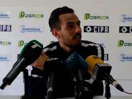Manu Molina cargó contra Pablo Comas desde la sala de prensa. RecreativoHuelva