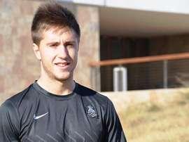 El centrocampista Gaztañaga, cedido por la Real Sociedad al Numancia. Twitter