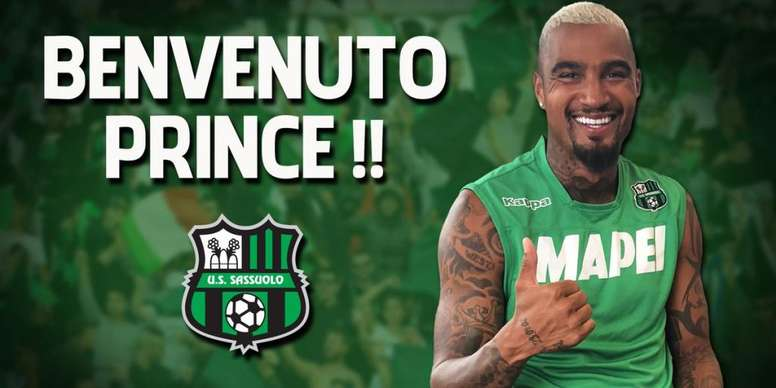 Kevin-Prince Boateng has played all around Europe. Twitter/SassuoloUS