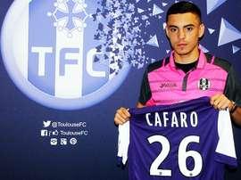 El centrocampista Mathieu Cafaro recibe un contrato profesional del Toulouse. ToulouseFC