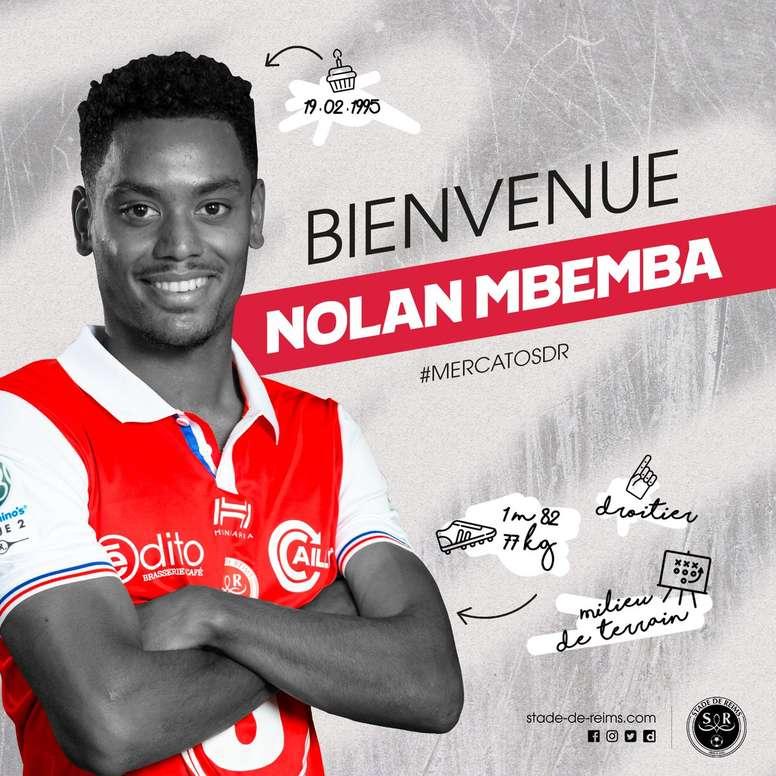 Nolan Mbemba, nuevo jugador del Reims. StadeDeReims