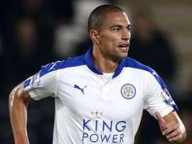 El centrocampista suizo Gokhan Inler, en un partido del Leicester City. Sport.co.uk