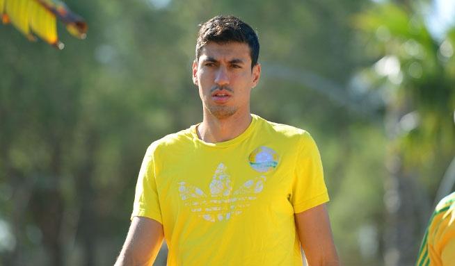 El centrocampista Xandao, en un acto público con el Kuban Krasnodar. FCKuban