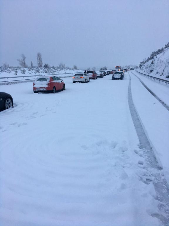 La nieve fue protagonista de la jornada. CCDCerceda